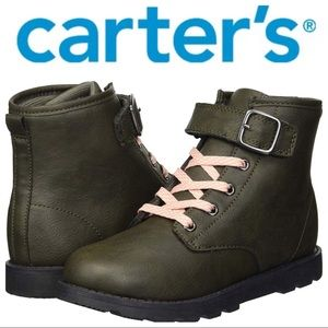 NWT Carter's Girls Combat Boots